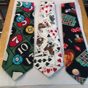 Go ahead take a chance GAMBLE set of three ties